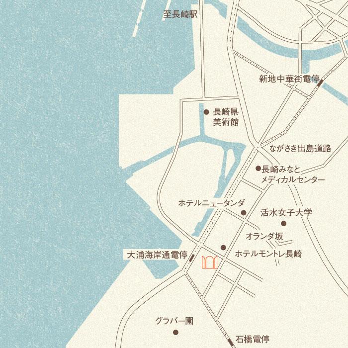 シャトレ稲尾地図